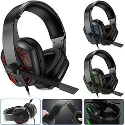 Gaming Mic Headset Stereo Over-ear Headphone For PS4/Nintend