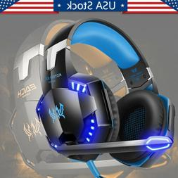 3.5mm Gaming Headset LED Gaming Headphone with Mic for PS4 S