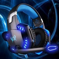 3.5mm Gaming Headset LED Gaming Headphone w/Mic for Switch P