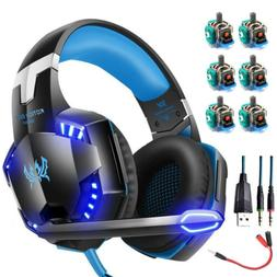 3.5mm Gaming Headphones Headset LED Stereo Surround for PS4
