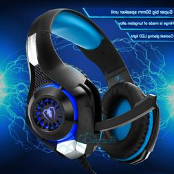 3.5mm Gaming Headset MIC LED Headphones Surround for PS3 PS4