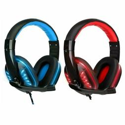 3.5mm Gaming Headset MIC LED Headphones for PC Laptop PS5 PS