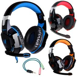 3.5mm Gaming Headset MIC LED Headphones Surround for PS4 Xbo
