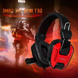 AUSDOM 3.5mm Gaming Headset MIC LED Wired Headphones Stereo