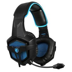 3.5mm Gaming Headset Over the Ear Wired Headphone Adjustable