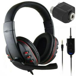 3.5mm Gaming Headset Stereo Headphone For PS4 Xbox One X 360
