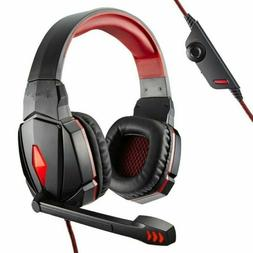 3.5mm Gaming Headset Stereo Surround Headphones LED USB with