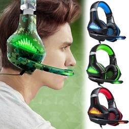 3.5mm Gaming Headset with Mic LED Lights for Playstation 4,