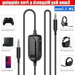 3.5mm Replacement Gaming Headset Audio Cable Cord Aux With M
