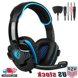 Sades 3.5mm Surround Stereo Gaming LOL Headset Headband Head