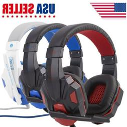3.5mm Wired Gaming Headset Stereo Surround Headphone With Mi