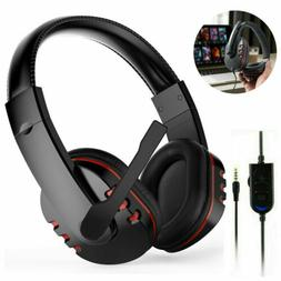 3.5mm Wired Gaming Headset Mic for PS4 PS5 PC Mac Laptop New