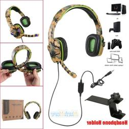 50mm Stereo Bass Surround Gaming Headset for PS4 Xbox One PC