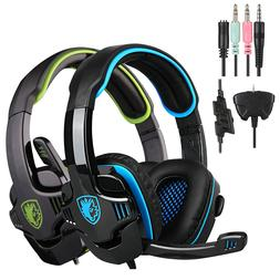 Sades 708GT PC Gaming Headsets Headphones With Mic for PS4 X