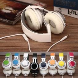 7Color 3.5MM Wired Gaming Stereo Headset Foldable Headphone