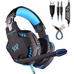 KOTION EACH G2100 Gaming Headset PC Gaming Bass Earphones wi