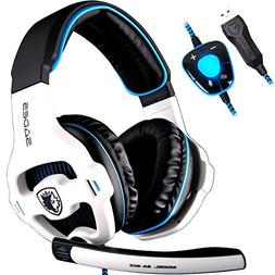 SADES SA903 USB 7.1 Surround Sound Stereo Gaming Headset Ov