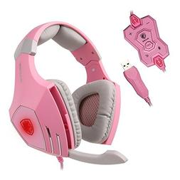 SADES A60 7.1 USB Pro PC Gaming Headset Surround Sound Stere