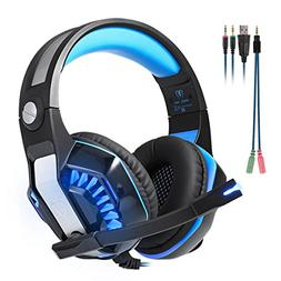 Beexcellent GM-2 Surround Sound Gaming Headset, Over Ear Noi