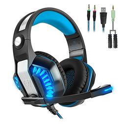 Beexcellent GM-2 Pro Gaming Over-Ear Headset Mic, LED Lights