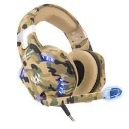 BEST G2000 3.5mm Gaming Headset Mic LED Headphones For PC MA