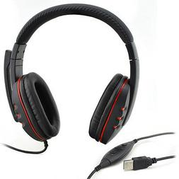 Bizlander USB Gaming Headset Headphone Earphone for PC Laptop Play station 3