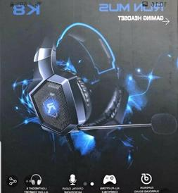 Gaming Headset - Runmus K8 for ps4, PC, Xbox One - BLUE