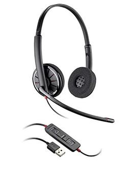Plantronics Blackwire 320 USB Headset, On-Ear Mono Headset,