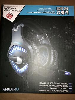 ONIKUMA BLUE K1-B Pro Stereo Surround Gaming Headset for PS4