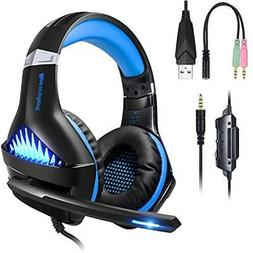BlueFire Headsets Upgraded Professional PS4 Gaming 3.5mm Wir