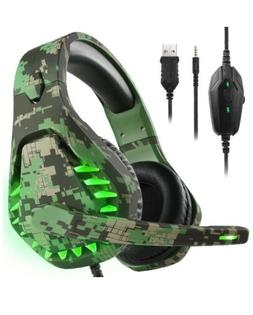 Butfulake Noise Cancelling PC Headset with Mic,PS4 Gaming He