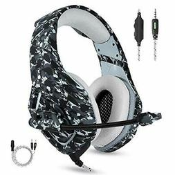 Cancelling Gaming Headset Surround Sound Stereo Volume Contr