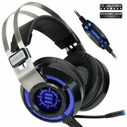 ENHANCE Scoria Gaming Headset for Computer & PS4 with USB 7.