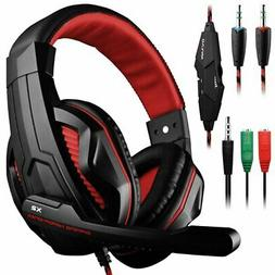 Dland Gaming Headset, 3.5mm Wired Bass Stereo Noise Isolatio