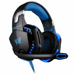 EACH G2000 3.5mm Gaming Headset Mic LED Headphones For PC MA