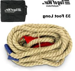 EASYGO 33 Foot TUG of WAR Rope with Flag – Kids and s Fami