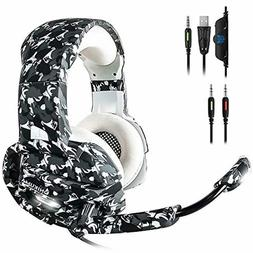 ECOOPRO Newest Gaming Headset with Mic for PS4, Xbox One, PC