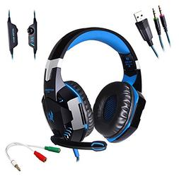 AFUNTA G2000 Stereo Gaming Headset Compatible PS4 PC with Mi