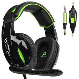 3.5mm Stereo Wired Over Ear Gaming Headset with Mic&Noise Ca