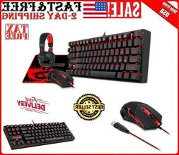 Gaming Combo Set Mouse Keyboard Headset with Microphone Mous