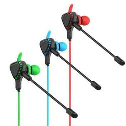 Gaming Earbuds with Mic for Nintendo Switch Xbox one PS4 Hea