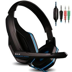 AFUNTA Gaming Headset Compatible PS4 PC Smart Phone Laptop T