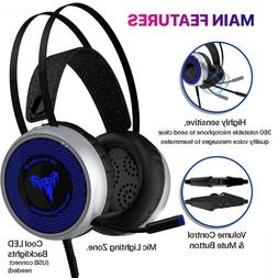 Gaming Headset for Xbox One S,X, PS3 PS4, PC with LED Soft