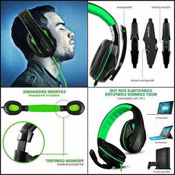 With Gaming Headset,DLAND 3.5mm Wired Bass Stereo Noise Isol