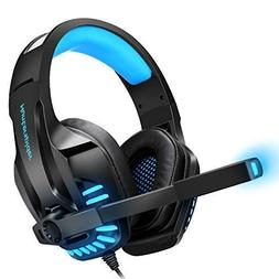 Gaming Headset with Mic for PS4, PC, Xbox One, Surround Soun