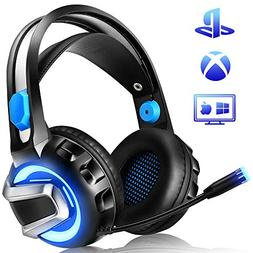 NiceWell Gaming Headset for Xbox One, PS4, PC, Gaming Headph