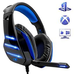 Gaming Headset for PS4 Xbox One, Beexcellent 3.5mm Wired Ste