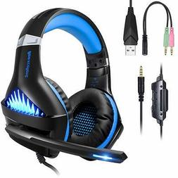 BlueFire gaming headset blue headphone noise isolation retra