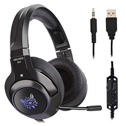 Ceppekyy Gaming Headset Compatible with PS4, PC, Xbox One, S