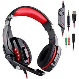 Gaming Headset Compatible Playstation 4 PS4 Tablet PC Headph